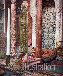 Le tombeau d'Aziyadé, copie de la stèle véritable, fleuri de roses