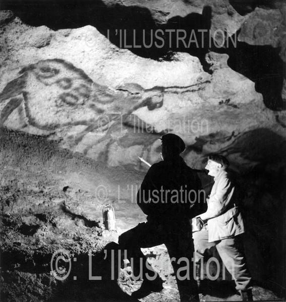 Premier reportage photographique sur le site préhistorique de Lascaux, 1940