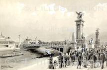 Pont Alexandre III, exposition universelle à Paris en 1900