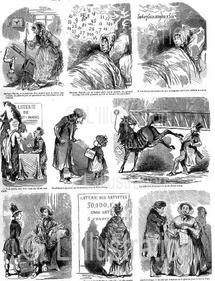 Caricature sur la loterie, 1849
