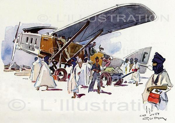Arrivée du Laté-26 à l'Aéropostale de Cap Juby, 1932