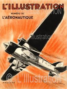 Couverture du numéro spécial sur l'aviation, 1932.