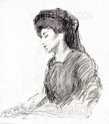 Marguerite Steinheil pendant son procès, 1909.