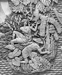 Les bas-reliefs du sculpteur Janniot sur la façade du Palais de la Porte Dorée
