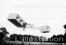Le vol de 220 mètres du 14-bis de Santos-Dumont, Bagatelle, 1906