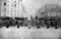 Barricade de la chaussée Ménilmontant, 1871
