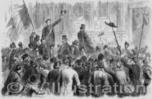 Arrivée à l'Hôtel de Ville de Paris du citoyen Rochefort, 1870