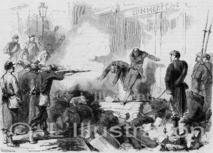 exécution d'insurgés agents de la Commune, 1871