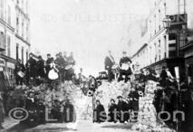 Barricade dans les rues de Paris, 1871