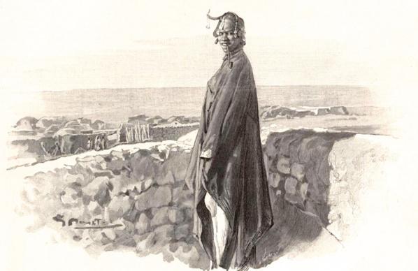 1896 - Dame de Tombouctou sur sa terrasse