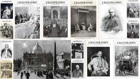 Sélection de couvertures de L'Illustration consacrées au Pape et au Vatican