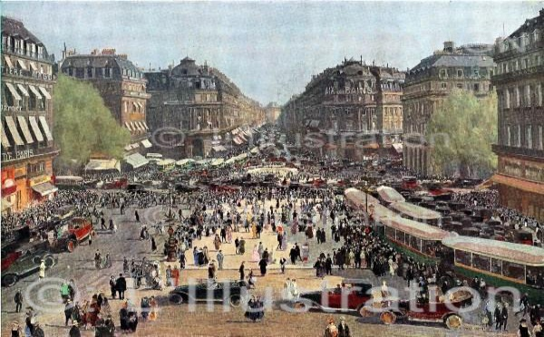 Construction de l'Opéra Garnier à Paris